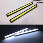 2x White Super Bright COB Car LED Light DRL Fog Driving Lamp Waterproof 17cm 12V