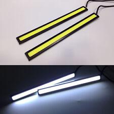 2x White Super Bright COB Car LED Light DRL Fog Driving Lamp Waterproof 17cm 12V