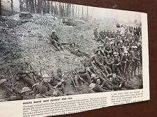 m8-7 ephemera 1938 ww1 picture troops rest during bazentin ridge 1916