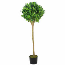 Deluxe Luxury Artificial Bay Leaf Laurel Tree Topiary Ball - 120cm (4ft) Tall...