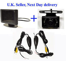 "WIRELESS di PARCHEGGIO RETROMARCIA 3.5"" Video Macchina Fotografica & Nightview MONITOR KIT"
