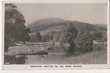 POSTCARD  AMBLESIDE   Boating on the River Rothay