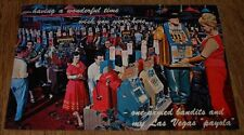 Vintage Postcard Gambling Slot Machines  Casino  Las Vegas Nevada