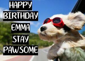 cute funny cockapoo dog sunglasses personalised Birthday Card gift present