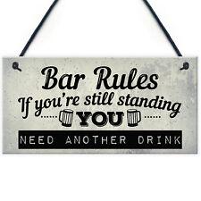 Still Standing Plaque Alcohol Beer Pub Bar Garden Man Cave Wall Sign Friend Gift