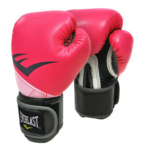 Everlast Pro Style Advance Training Glove 10Oz - Mitt Work & Heavy Bag In Pink