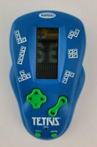 Vintage 2000 Radica Electronic Handheld Tetris Pocket Travel Game Blue