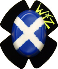 Motrax Motorcycle Racing Knee Sliders Wiz Scottish Flag WSSF BC14025- T