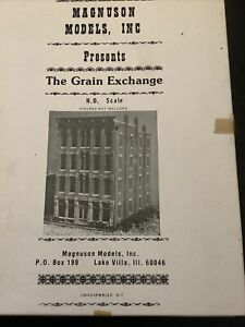 """Magnuson Models HO """"The Grain Exchange"""" Complete kit in box w/instructions"""