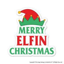 Merry Elfin Christmas Sticker Festive Funny Decal Car Vinyl