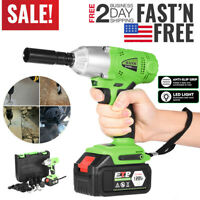 16800mAh 1/2'' Electric Brushless Cordless Impact Wrench Drill High Torque Tool.