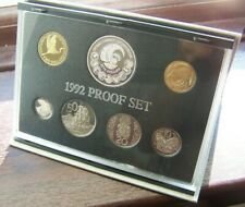 New Zealand 1992 Silver Proof Set with Silver 5 Dollar Coin