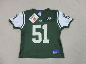 NEW Reebok Jonathan Vilma New York Jets Football Jersey Womens Large Green NFL
