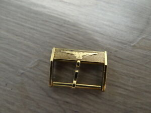 VERY RARE VINTAGE LONGINES GOLD PLATED BUCKLE SIZE 20MM