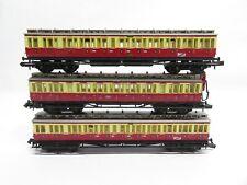 Arnold N Personenwagen-Set 3-teilig Abteilwagen DRG / rot / beige / ohne OVP