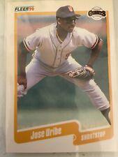1990 Fleer Jose Uribe #74 Error Baseball Card