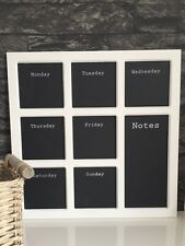 Weekly Chalkboard Memo Board Calendar White Wooden Planner Organiser