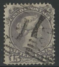 MOTON114    #29 Large Queen 15c Canada used well centered