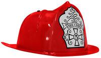 Child Deluxe Red Firefighter Helmet Costume Accessory Kids Fireman Hat Costume