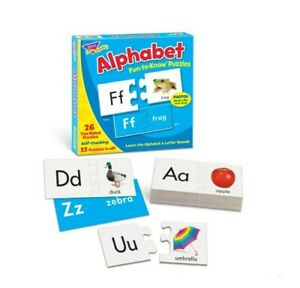 NEW Trend Enterprises, Inc. #T-36002 Fun-to-Know® Alphabet Two-Sided Puzzles