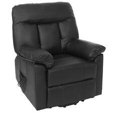 Fernsehsessel Watford, Relaxsessel Liege Sessel, schwarz, Aufstehhilfe ~ 50227