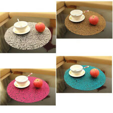 38cm Plastic Circle Crystal Coasters Pad Transparent Placemat Dining Table Mat