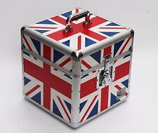 "Zilla LP100 12"" Vinyl Record Box Storage Flight Case Aluminium UNION JACK Print"
