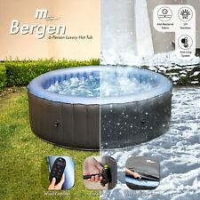 More details for 2021 mspa bergen hot tub jacuzzi inflatable spa 4 & 6 person inc uv sanitizer