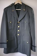 Vintage 1956 US Army Military OD Green 100% Wool Serge Officers Dress Coat 44L