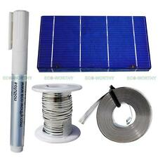 "20 PCS 3x6"" Solar Cell Cells & Tab Bus WIre Flux Pen for DIY Solar Garden Lights"