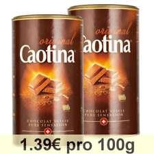 Caotina originale, Poudre de Cacao avec du Chocolat Suisse, Lot de 2, 2 x 500g