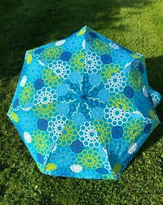 Totes Turquoise Auto Handle Umbrella New with Tags