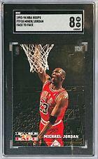 MICHAEL JORDAN 1993-94 NBA HOOPS HAROLD MINOR SGC 8 FACE TO FACE CHICAGO BULLS