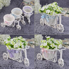 BowKnot Rattan Tricycle Bike Basket Party Wedding Decor Gift HOUSE Decor SOL