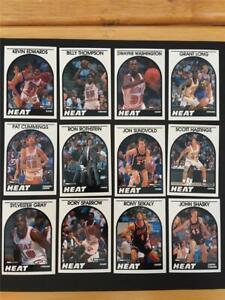 1989/90 NBA Hoops Miami Heat Team Set 12 Cards