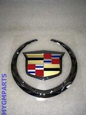 CADILLAC ESCALADE EXT TAIL GATE EMBLEM WREATH AND CREST 2007-2013 NEW 22984655