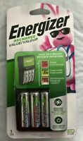 Energizer Value Charger 4 AA NiMH Rechargeable Batteries Included CHVCMWB-4 New