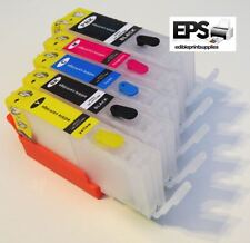 Refillable Refill Edible Ink Cartridges 550 / 551 Canon Printer IP7250