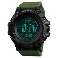 NEU SKMEI Herren Digital Alarm Sportuhr Barometer Kompass Armbanduhr Wasserdicht