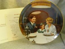 Knowles / Bradford Exchange / The Birthday Wish By Norman Rockwell Plate