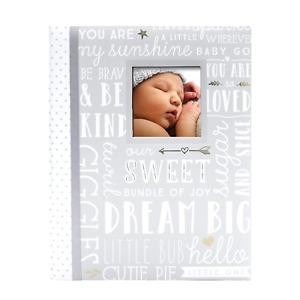 First 5 Years Dream Big Wordplay Baby Memory Book Memory Journal Gray NEW
