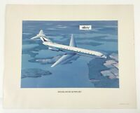 1966 North Central Airlines Douglas DC-9-31 Fan Jet Poster. 16 X 20. Good Shape!
