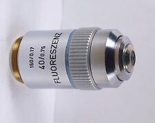 Leitz FLUORESZENZ 40x /0.75 160mm TL Microscope Objective