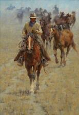 Jim Rey Bringing in the Mares Artist Proof Giclee on Canvas