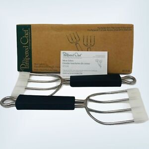 Pampered Chef Meat Lifters #2715 BBQ/Turkey/Roast Kitchen Sturdy Forks Set Of 2