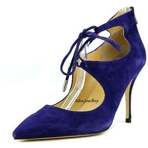 Genuine Brand New Ladies IVANKA TRUMP Deenal Blue Suede Heels Shoes RARE Last 1