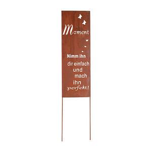 Gartenstecker Gartenschild Edelrost Metall Roststecker Schild Spruch Klein