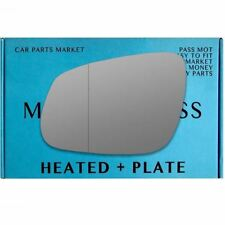 Left side Wide Angle wing mirror glass for Vauxhall Viva 2015-2017 heated plate
