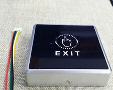 Touch sensor pad pannel Exit push door Release Open Button Switch LED light