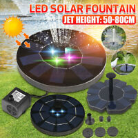 4 LED Light Solar Powered Fountain Floating Bird Bath Water Pump Garden Pond